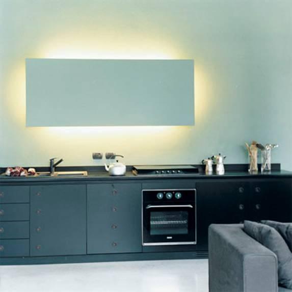 Cucine Senza Pensili Sopra. Mensole Per Cucina Moderna Gallery Of ...