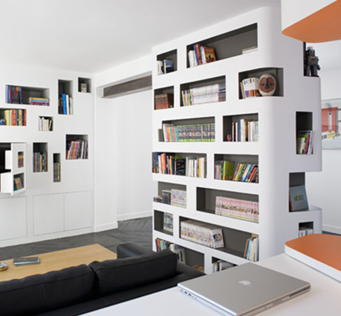 Parete Attrezzata Cartongesso Design: Idee pareti soggiorno in ...