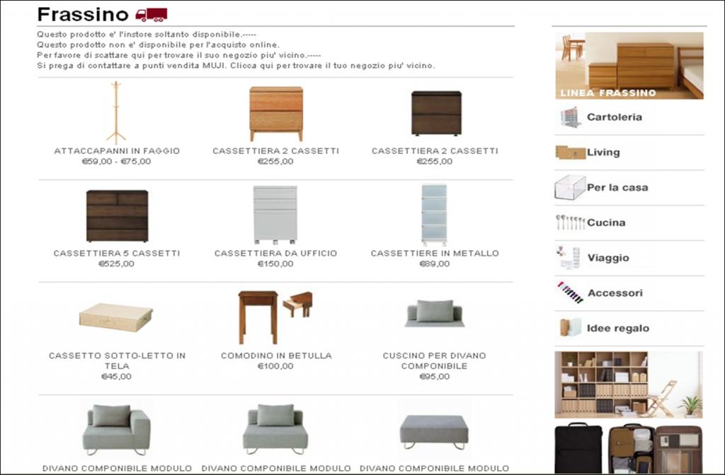 Outlet arredamento design online areadocks research for Outlet arredamento firenze